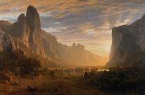 Looking Down Yosemite Valley, 1865.